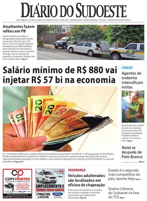 salario regional teve aumento em 2016 rs di 225 rio do sudoeste 6 de janeiro de 2015 ed 6544 by di 225 rio