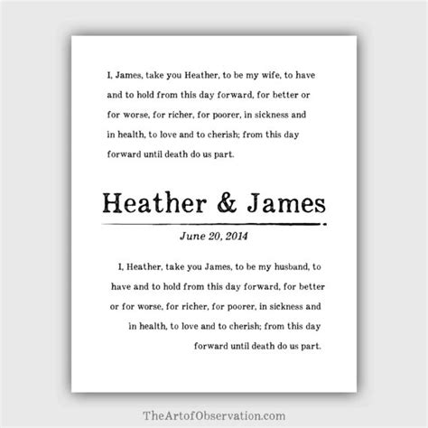 Personalizing Your Wedding Vows by Custom Wedding Vows Print Personalized Typography Vintage