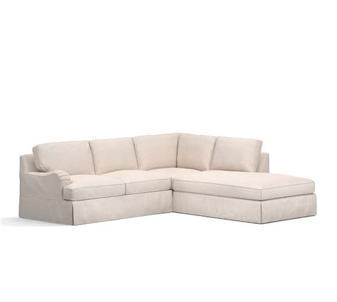 pb comfort sectional pb comfort english arm slipcovered 3 piece bumper