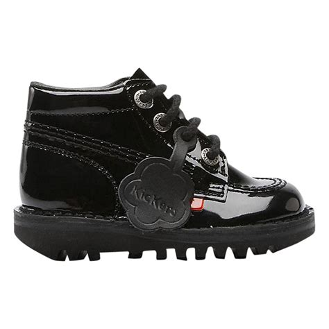Kickers Boot Original Uk 42 kickers hi boots black patent