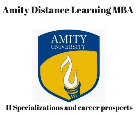 How Many Specializations In Mba by Mba Amity Distance Learning 11 Specializations Distance
