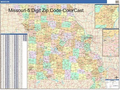 zip code map missouri zip code map mo zip code map