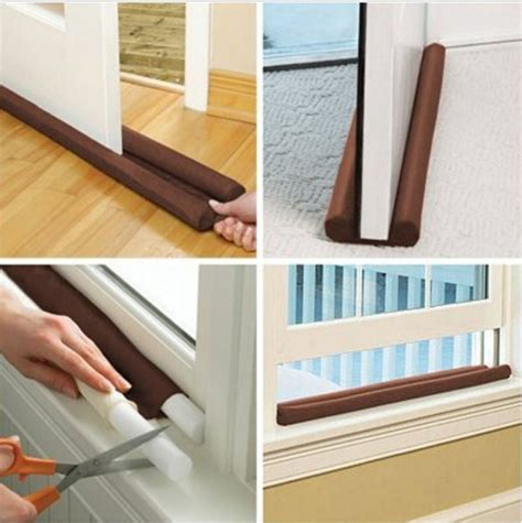 Draft Guard Dust Heat Stopper Penahan Udara tripleclicks door draft stopper dual draught excluder air insulator windows dodger