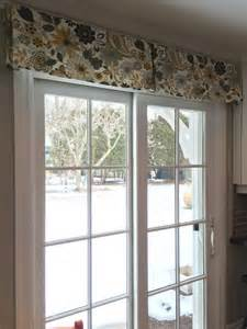 Patio Window Treatments Patio Door Window Treatment Using A Simple Decorative Box