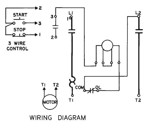 one line diagram 3 wire start stop station wiring diagrams
