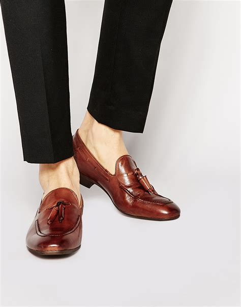 h by hudson loafers h by hudson h by hudson tassel loafers brown in