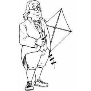 benjamin franklin kite coloring