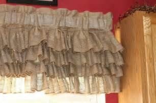 Ruffled Valances Burlap Curtain Burlap Valance Burlap Curtains Curtains