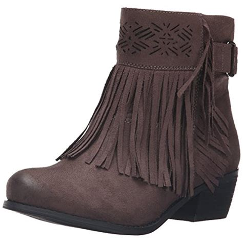 Country Boots Suede Shoes not 9503 womens captain country faux suede fringe