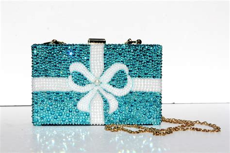 Clutch Original Swarovski swarovski clutch in aqua blue