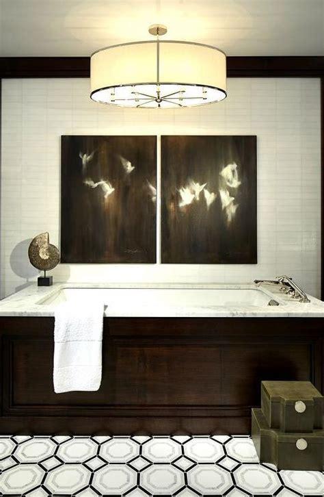 octagon tiles bathroom octagon tiles paneled tub with marble tub deck