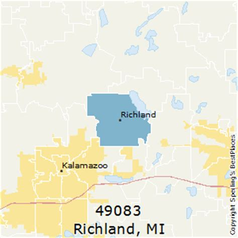 zip code map kalamazoo county best places to live in richland zip 49083 michigan