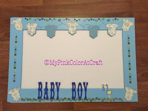 Baby Shower Frame by Pinkcolor At Craft Baby Shower Photo Booth