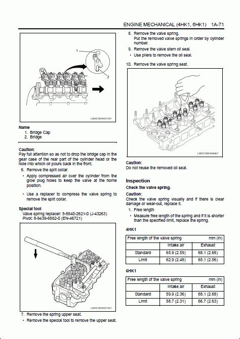 small engine repair manuals free download 1992 isuzu impulse electronic valve timing hitachi engine manual 4hk1 6hk1 isuzu