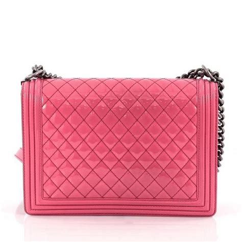 Chanel Large Quilted Boy Flap Bag by Chanel Boy Flap Bag Quilted Patent Large At 1stdibs