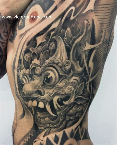 indonesian tattoo designs 16 fabulous balinese mask tattoos tattoodo