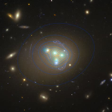 galaxy matter astronomers matter may interact with itself excess