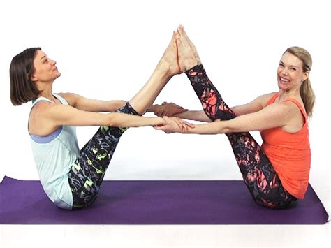 double boat pose 10 yoga poses to do with a partner health