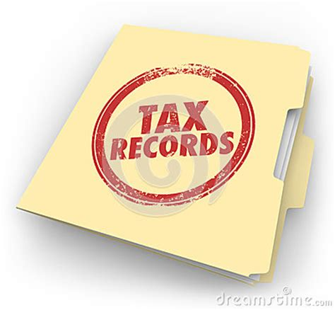 Tax Records Tax Records Manila Folder St Audit Documents File Stock Illustration Image 42614969