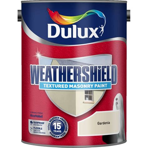 where to buy paint dulux weathershield textured masonry paint 5 litre gardenia