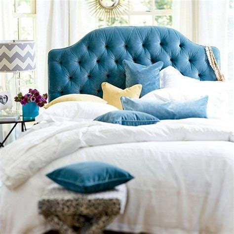 turquoise tufted headboard camden tufted headboard i love this teal velvet on the