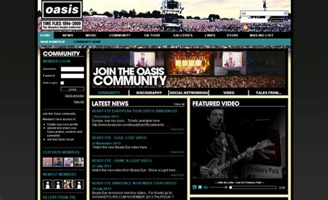 the most beautiful websites the world s most beautiful band websites for your