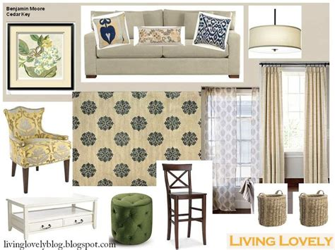 Neutral Green Living Room by Casual Elegance Blue Yellow Green Neutral Living Room
