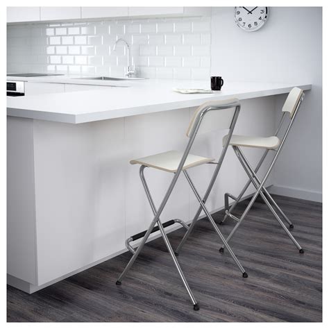 Foldable Bar Stools With Backrest by Franklin Bar Stool With Backrest Foldable White Silver