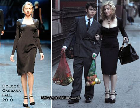 Catwalk To Carpet Fergie In Dolce Gabbana by Runway To Fall 2010 Ad Caign Shoot Madonna In Dolce