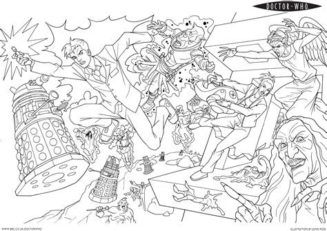 free coloring pages of doctor who