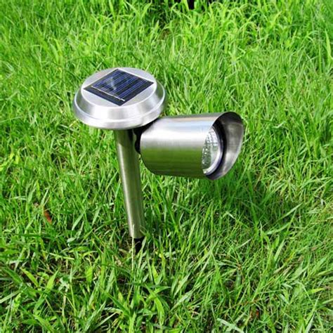 3 led solar powered lawn light outdoor landscape garden