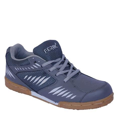 sports shoes for badminton feroc power badminton gray sports shoes buy feroc power