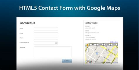 contact us page with map html html5 ajax contact form with maps by its level