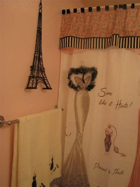 paris themed shower curtain pin by leann pigg on guest bathroom pinterest