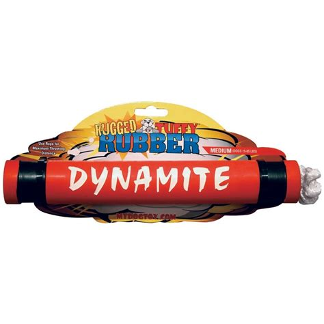 rugged toys tuffy rugged rubber dynamite naturalpetwarehouse