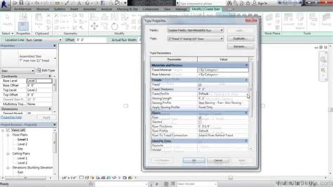 revit tutorials creating stair by component doovi revit stairs and railings tutorial stair and railing