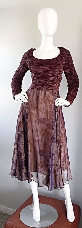 Mary Mcfadden Couture Vintage Fortuny Pleated Burgundy Mcfadden Fashion Designer Encyclopedia Clothing