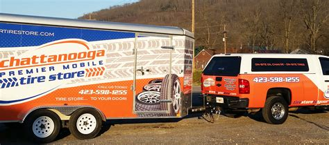 boat wraps mobile al chattanooga tire store trailer and truck wrap accel graphics