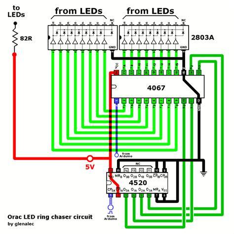 led light chaser circuit diagram 20 led chaser circuit diagram circuit and schematics diagram