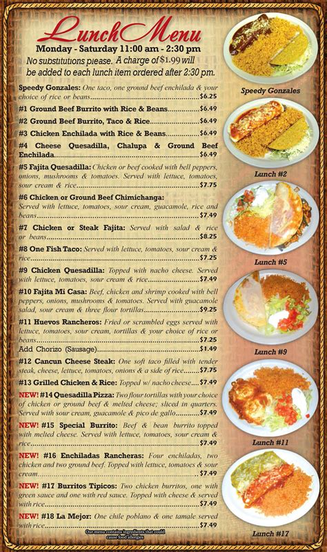 image gallery lunch food menus restaurant