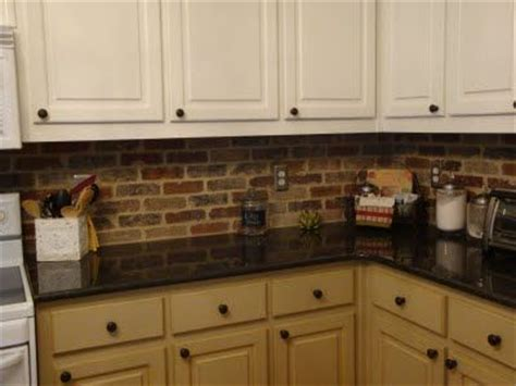 Brick Tile Kitchen Backsplash Brick Veneer Backsplash Braen Pinterest The Two Cabinets And Heavens