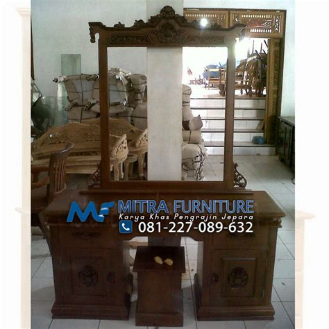 Tolet Meja Rias Jati tolet meja rias kuda kayu jati mebel jati jepara mebel minimalis modern jual furniture jepara