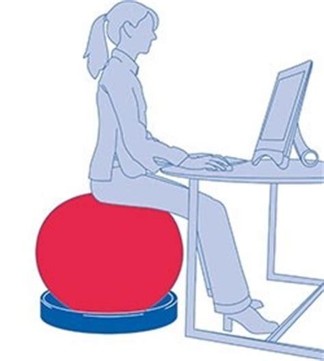 postura seduta corretta palla professionale per tonificazione addominali e postura