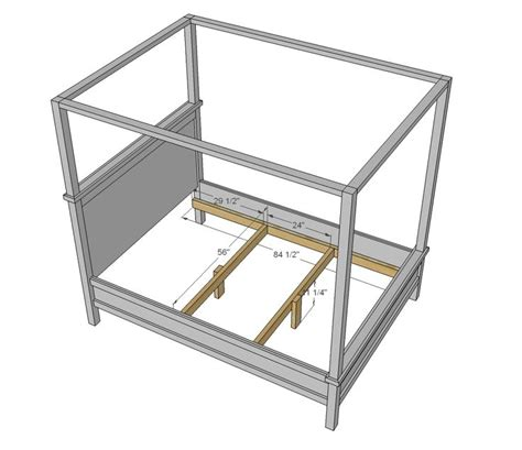 canopy bed plans four poster bed plans free woodworking projects plans
