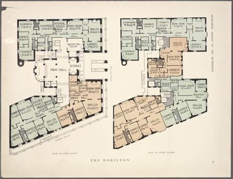 thornewood castle floor plan image from http images nypl org index php id 464841 t w
