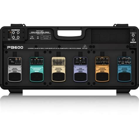 Harga Pedal Board jual behringer pb600 pedalboard with power supply 6 pedal