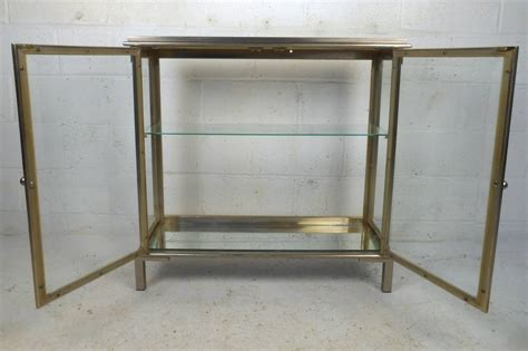 Glass Display Cabinet Sale by Midcentury Mastercraft Style Glass Display Cabinet For