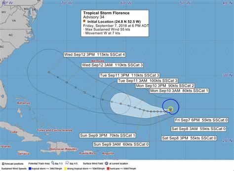 ministry advisory  tropical storm florence bernews