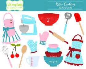 50s Kitchen 50 off cooking clipart baking clipart retro cooking clip
