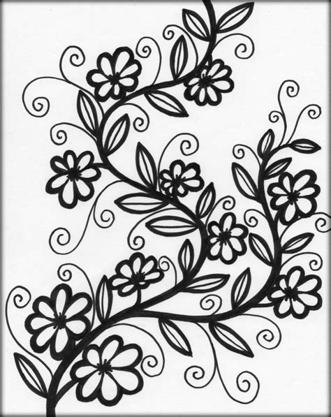 Coloring Pages For Flowers by Adults Flowers Coloring Pages Printable Color Zini